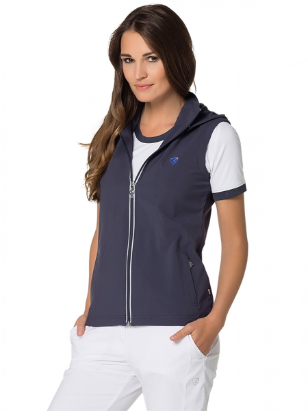 Vest (with hood) Valerie grisaille