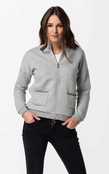 Sweatjacket Svea - light heather grey
