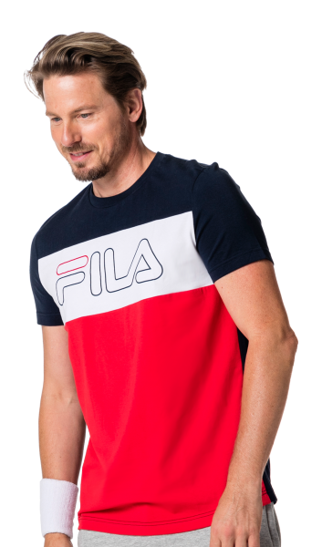 T-Shirt Rudi - Fila Red/Peacoat Blue