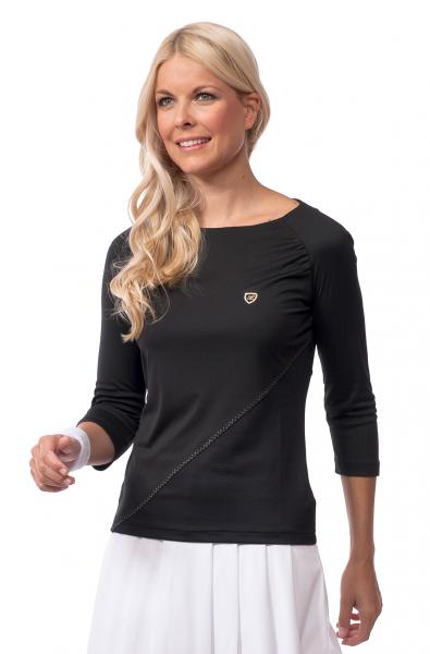 ¾ Sleeve Shirt Resort - Black