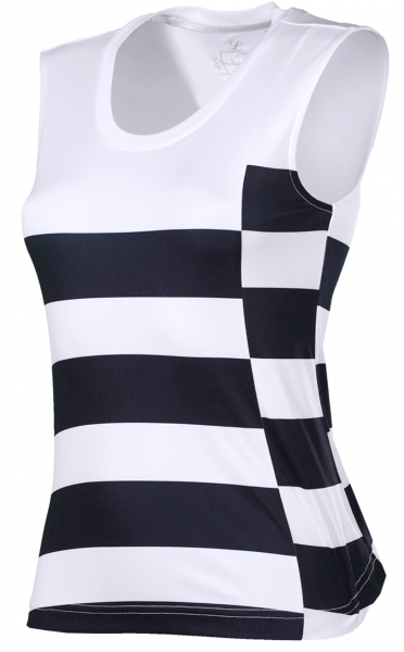 Top Tuula - White and Stripes