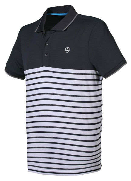 Polo Poul - White stripe-Ebony